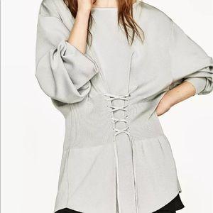 ZARA Corset Long Tunic Round Neck sweater 4331/005